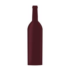glass bottle wine drink design vector illustration eps 10