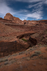 View from Crack in the Wall towards Stevens Arch and Escalante River Utah