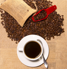 Aluminium Prints Coffee beans Kaffee Bohnen Coffee