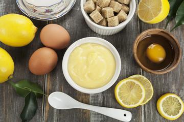 Curd. Lemon cream