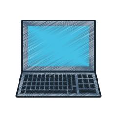 drawing laptop study school vector illustration eps 10