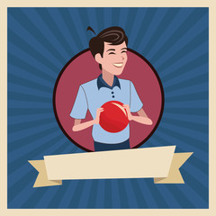 son red ball style ribbon vector illustration eps 10