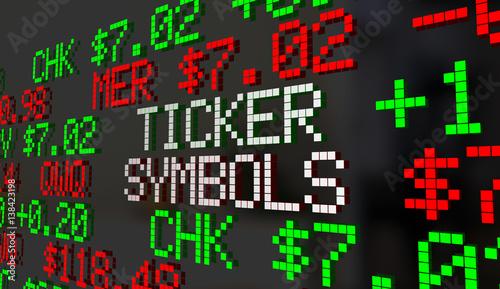 Ticker Symbols Companies Prices Stock Market Listings 3d