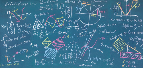 Physical and mathematical sciences for the engineer drawing on the chalkboard