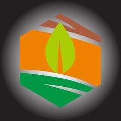 Colorful hexagon logo vector,technology, corporate concepts.