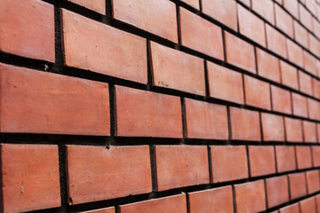 brick wall texture background material of industry building construction.