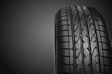 Tire isolate is on black background