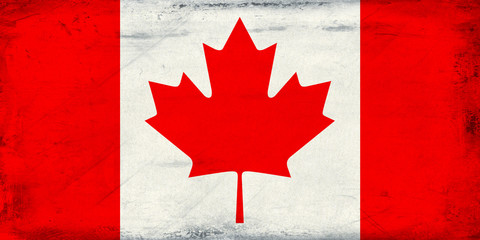 Vintage Canada flag background