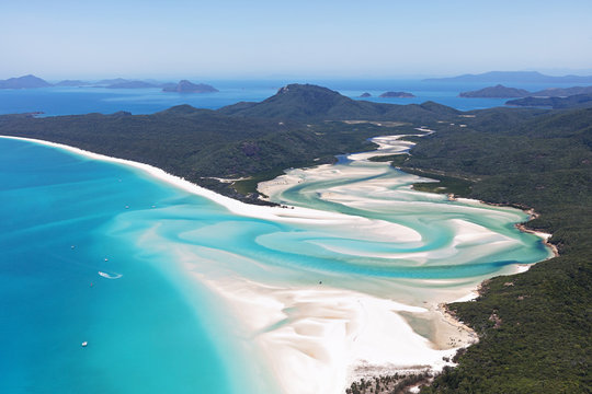 Aerial view Whitsunday Islands