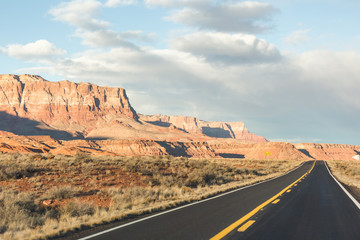 Desert Highway Landscape in Arizona