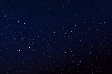 Night sky with the star