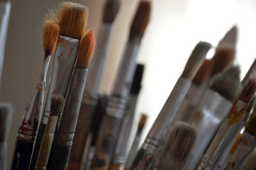 Close Up Of A Paint Brush.