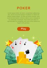 Pocker Online Games Dice Casino Banners Set