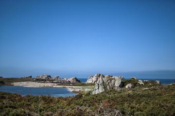 Coast in Brittany France near Sillon de Talbert