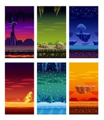 Computer Games  Colorful Elements Cartoon Set