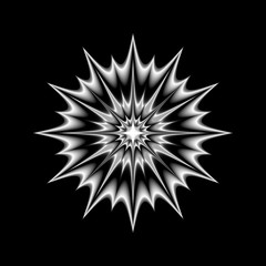 vector, black and white portal. mandala  isolated, abstraction