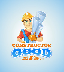 vector set of builders or handymans in action poses