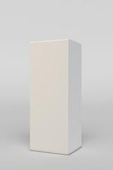 Paper white box mock-up template. 3D illustration