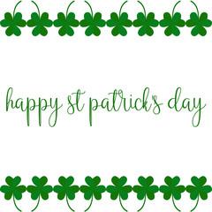 Greeting card on St. Patricks day