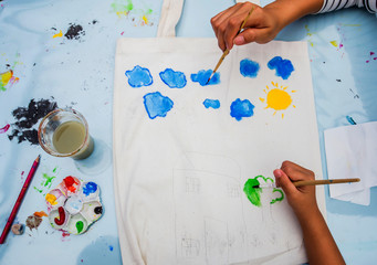 Education, Mixing Water Colors in a painting Class