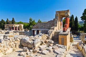 Details of Knossos palace near Heraklion, island of Crete, Greece