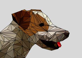 Dog made of polygon