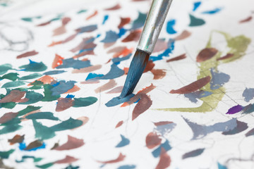 Abstract textures with a paint brush