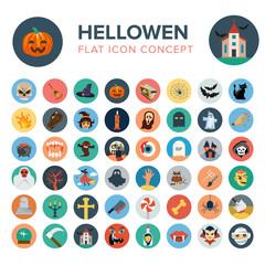 Halloween flat icon concept