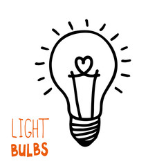 Light bulb icon. Concept of