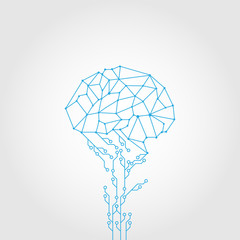 Abstract Circuit and style brain vector technology