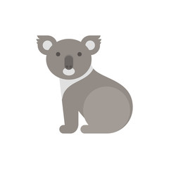 Vector flat style illustration of koala bear.