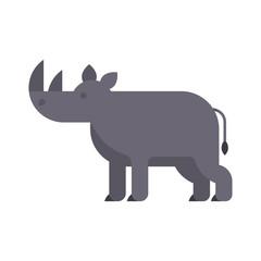 Vector flat style illustration of rhino.