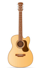 acoustic guitar stock vector illustration