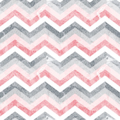 Seamless zigzag pattern with grunge texture. Vector illustration. ZIg Zag.
