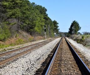 Railroad Tracks at crossing