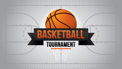 Basketball tournament. Vector illustration