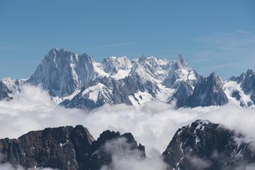 chaine du Mont blanc vue depuis le Mont Buet