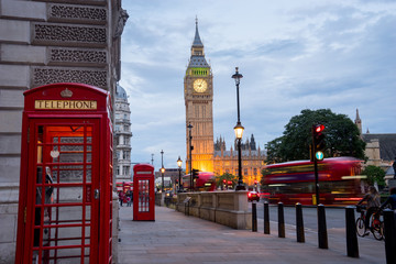 Autocollant pour porte London Big BenBig Ben and Westminster abbey in London, England