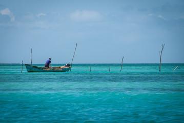 Fischerboot vor Caye Caulker
