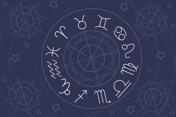 astrology horoscope zodiac vector