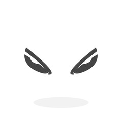 Evil eyes Icon. Vector logo on white background