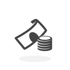 Money Icon. Cash vector logo on white background