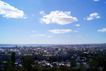 View of Saratov and Volga from an observation deck from Victory park