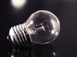 led lamp in black background