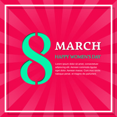 Happy Women's Day, 8 March. Vector background with space for text. Design template.
