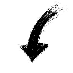 arrow, grunge brush stroke ink