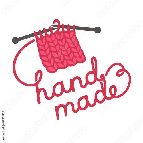 Knitting Hands Clipart : Quot knitting hand made lettering stockfotos und lizenzfreie
