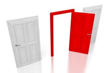3D three doors concept