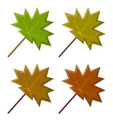 maple leaf set vector symbol icon design.