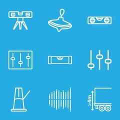 Set of 9 balance outline icons